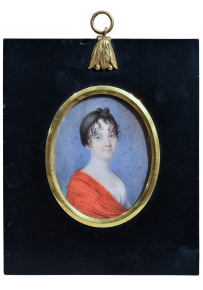 Миниатюра «Герцогиня Анна Александровна де Серра Каприола, урожденная княжна Вяземская (1770–1840)»