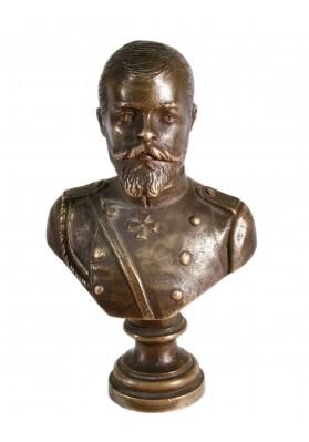 Печатка с бюстом императора Николая II