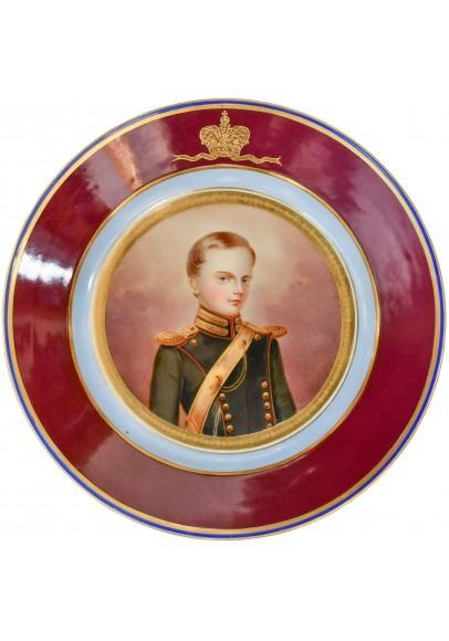 Тарелка «Портрет Великого князя Михаила Николаевича»