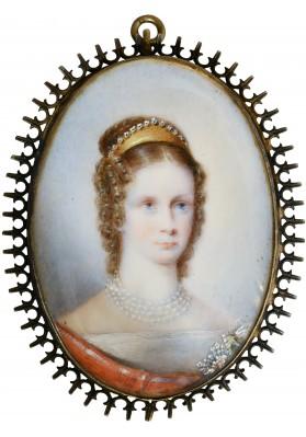 Миниатюрный портрет императрицы Марии Федоровны (1847-1928)