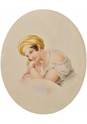 Брюллов Александр Павлович (1798-1877). «Портрет дамы в чалме».