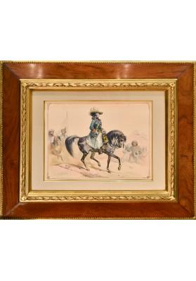 Жан Виктор Адам (1801-1867). «Екатерина Великая на конной прогулке».