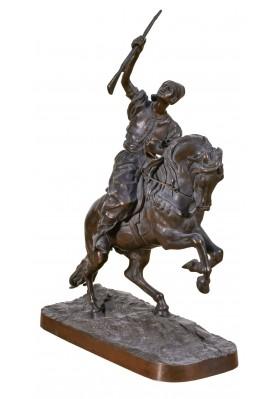 Лансере Евгений Александрович (1848-1886).  Скульптура «Араб на коне».