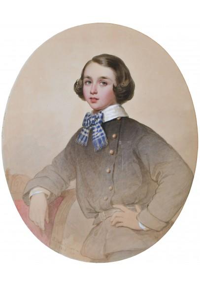 Беллоли Андрей Францевич (1820-1881). «Портрет Ричарда Амоса Болла (1845-1925)».