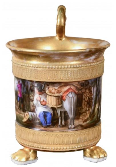 Чашка с блюдцем «Сцены охоты»