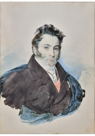 Брюллов Карл Павлович (1799-1852). «Портрет графа Рибопьера Александра Ивановича (1783-1865)».