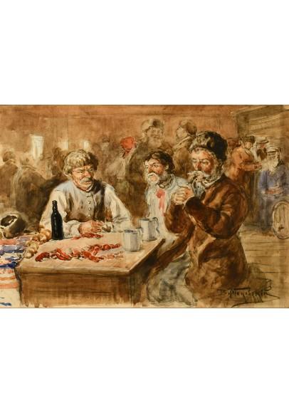 Маковский Владимир Егорович (1846-1920). «Малороссы в шинке».