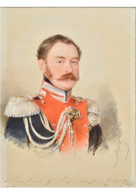 Даффингер Майкл Мориц (1790-1849).  «Портрет Великого князя Михаила Павловича (1798-1849)».