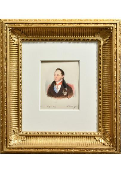 "Даффингер Майкл Мориц (1790-1849).  ""Портрет Татищева Дмитрия Павловича (1767-1845)""."