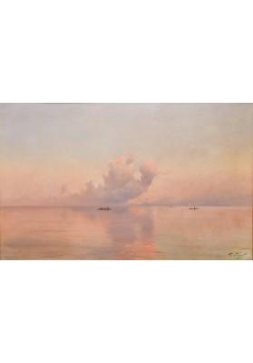"Дубовской Николай Никанорович (1859-1918). ""Закат на море""."