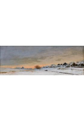 Дубовской Николай Никанорович (1859-1918). «Зима. Деревня. Закат».