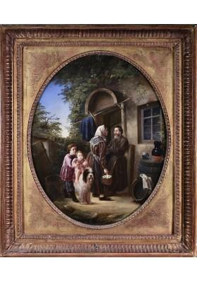 Фадеев Владимир Александрович. (р.1836-?).  «На Пасху».