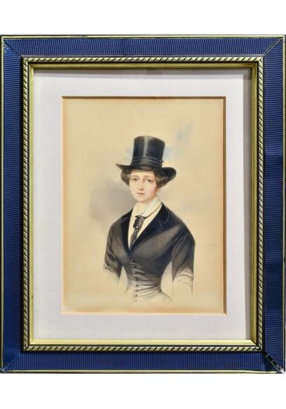 Гау Владимир Иванович (1816—1895).  «Портрет великой княжны Екатерина Михайловны (1827-1894)».