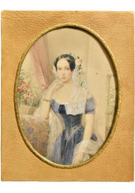 Гау Владимир Иванович (1816—1895). «Портрет Великой княжны Цесаревны Марии Александровны (1824-1880)».