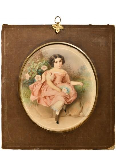 Гау Владимир Иванович (1816—1895). «Портрет девочки в саду».