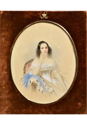 Гау Владимир Иванович (1816—1895).  «Портрет неизвестной».