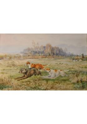 Хренов Александр Сергеевич (1860-1926). «Гонят волка».