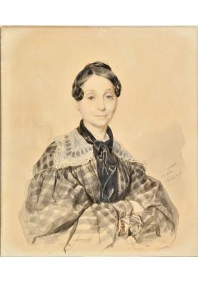 Брюллов Карл Павлович (1799-1852) «Портрет Елизаветы Николаевны Львовой (1788-1864)».