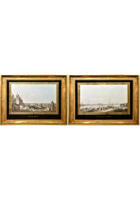 Хаммер Крисиан Готлоб (1779-1864). «Вид на Мраморный дворец» и «Москва, вид на город, слева от Кремля».