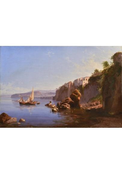 """Алессандро Ла Вольпе (1819-1887). """"Вид  Сорренто близ Неаполя  (с домом Торквато Тассо)""""."""