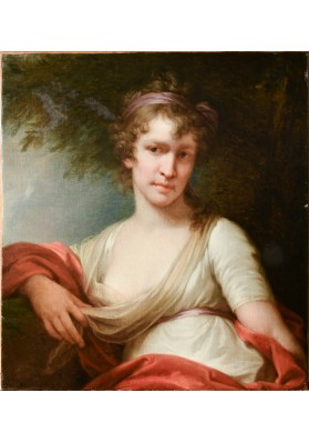Лампи (Lampi) Старший Иоганн Баптист (1751-1830). «Портрет дамы с красной шалью».