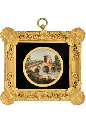 Римская мозаика «Пейзаж с башней».