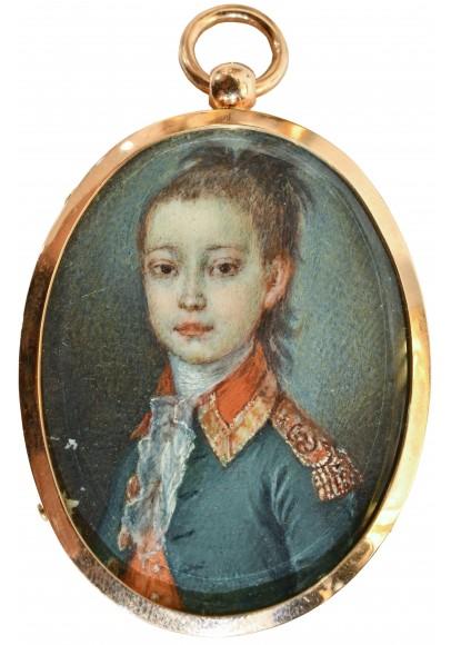 Портрет мальчика в мундире Преображенского полка.