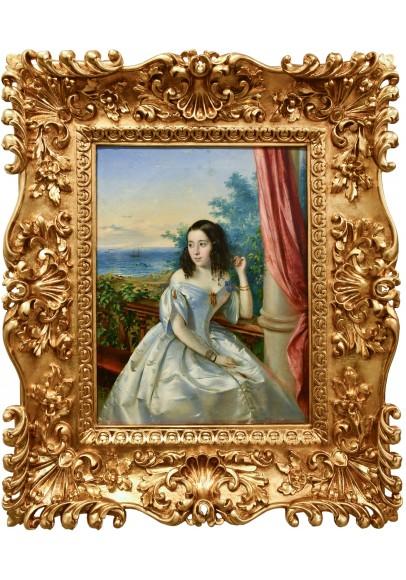 Нефф Тимофей Андреевич (Carl Timoleon von Neff) (1805-1876). «Портрет фрейлины императрицы Александры Фёдоровны».
