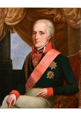 Олешкевич Иосиф Иванович (1777-1830). «Портрет генерала с орденом Св. Александра Невского».