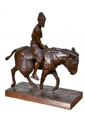 Вольф Альберт Мориц (1854-1923). Статуэтка «Горец на осле».