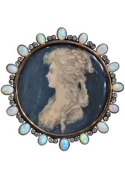 Пьер Паскьер (PierrePasquier) (1731-1806). «Профильный миниатюрный портрет дамы».