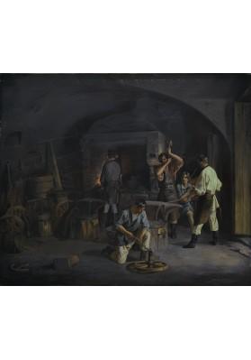 Плахов Лавр Кузьмич (1810-1881). «В кузнице».