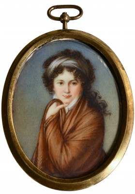 Миниатюра «Портрет графини Варвары Николаевны Головиной (1766-1821)»