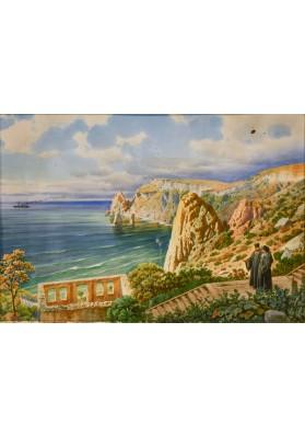 Премацци Луиджи (Людвиг Осипович) (1814—1891). «Вид на Чёрное море».