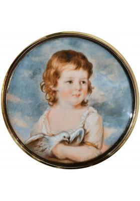 """Ритт (Ritt) Августин Христиан (1765-1799). """"Миниатюрный портрет графини Прасковьи Николаевны Головиной (1790-1869), в замужестве графиня Фредро""""."""