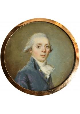 Ритт (Ritt) Августин Христиан (1765-1799). Миниатюра «Портрет молодого человека».