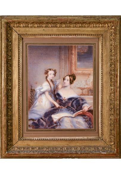 Робертсон Кристина  (1796 – 1854). «Портрет Нарышкиной Ольги Станиславовны с дочерью Софией Львовной, в замужестве графиней Шуваловой».