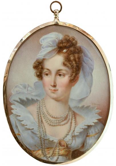 Шарлотта Джонс (Charlotte Jones) (1768-1847). Миниатюрный портрет «Императрицы Елизаветы Алексеевны (1781-1864)».