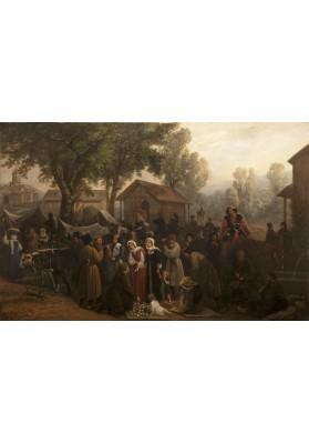 Шереметьев Василий Васильевич (1829-1915?). «Базарный день в деревне Сенаки в Мегрелии».