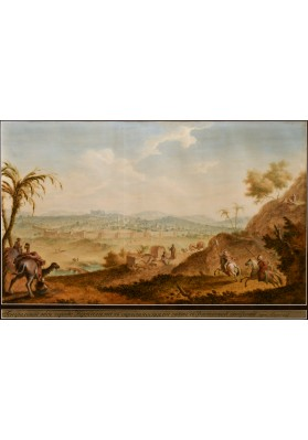 Сергеев Гаврила (Гавриил) Сергеевич (1765/1766-1816). «Генеральный вид города Иерусалима с окрестностями с восточной стороны горы Елеонской».