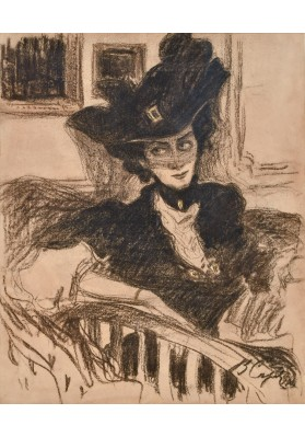 Серов Валентин Александрович (1865-1911). «Портрет дамы под вуалью».