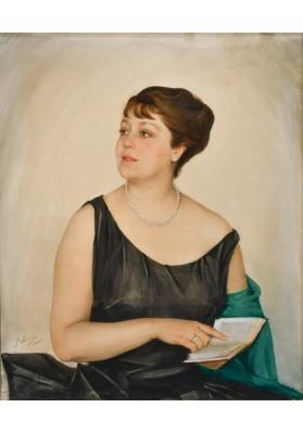 Сорин Савелий Абрамович (1878-1953). «Портрет дамы с книгой».