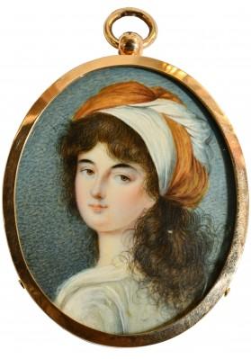 Строли (Стролей, Стролинг) Петер Эдуард (1768- после 1826). «Миниатюрный портрет неизвестной».
