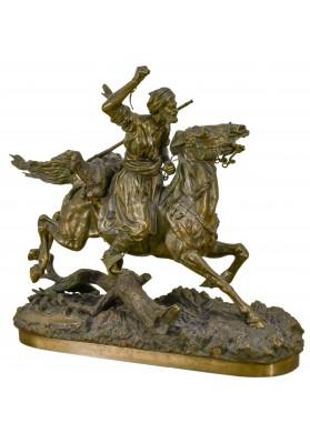 Напс Евгений Иванович (кон. XIX в.).  Скульптура «Араб с барашком на коне».