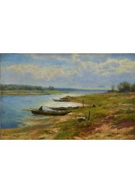 Вельц Иван Августович (1866-1926). «Рыбак в лодке».