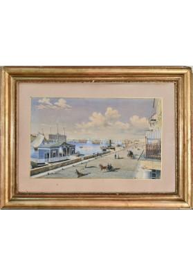 «Вид с Английской набережной на императорскую Академию художеств»