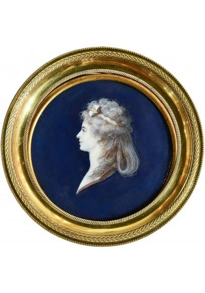 Буржуа Шарль Гийом Александр (1759-1832). «Женский профильный портрет».