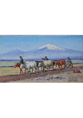 Зоммер Рихард Карлович (1866-1939). «Пашня».