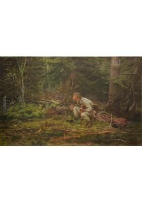 Савицкий Константин Аполлонович (1844-1905). «Охотник».