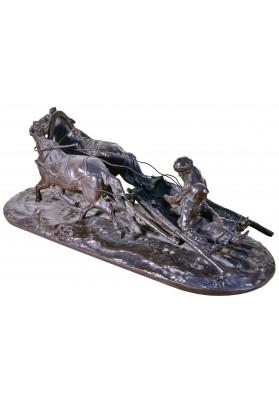 Лансере Евгений Александрович (1848-1886).  Скульптурная композиция «Крестьянские сани».